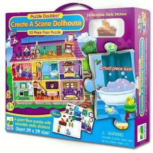 Create A Scene Floor Puzzle Doubles Dollhouse: The