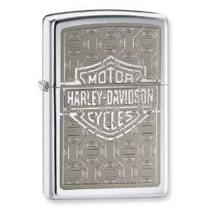 Zippo Harley Davidson High Polish Chrome Lighter Jewelry