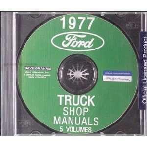 Ford Truck Repair Shop Manual CD for Pickup, Bronco, Van, & big trucks