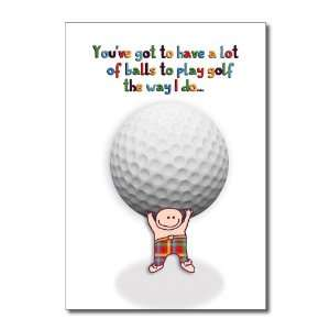 Funny Birthday Card Golf Balls Humor Greeting Ron Kanfi