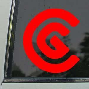 CLEVELAND CG LOGO GOLF Red Decal Truck Window Red Sticker