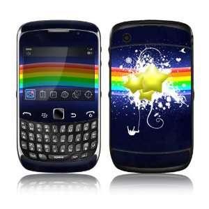 BlackBerry Curve 3G Decal Skin Sticker   Rainbow Stars