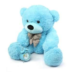 Happy Cuddles Soft and Huggable Sky Blue Teddy Bear 38in Toys & Games