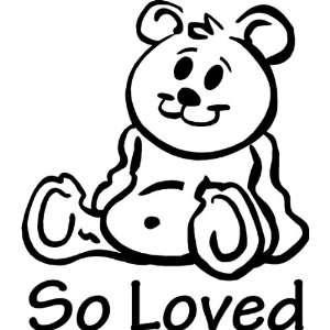 So loved teddy bear wall art wall sayings Baby