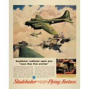 Studebaker Flying Fortress Aircraft Cyclone Engine WWII War Production
