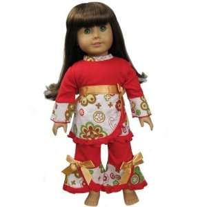 New CHRISTMAS SET FITS 18 AMERICAN GIRL DOLL clothing Toys & Games
