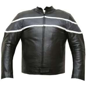 MENS BAND ARMOR MOTORCYCLE LEATHER JACKET GM 50 XXL