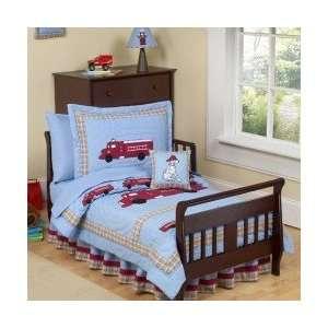 Fire Truck 5 Piece Toddler Bedding Set   Boys Comforter