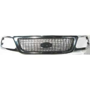 99 FORD EXPEDITION GRILLE SUV, With Chrome, XLT Model
