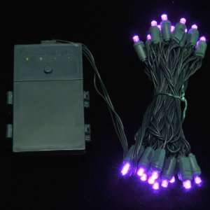 25L Purple Battery Operated LED Christmas Lights