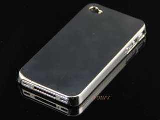 NEW SILVER CHROME ULTRA THIN HARD CASE APPLE iPHONE 4G