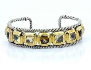 David Yurman 18k Gold Sterling Silver 925 Bangle Bracelet Vintage Cuff