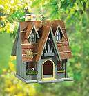 OLD ENGLISH ESTATE THATCHED ROOF WINDOW FLOWER BOX CHIMNEY BIRD HOUSE