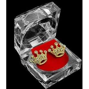 Royal Crown Earrings , Gold Plated