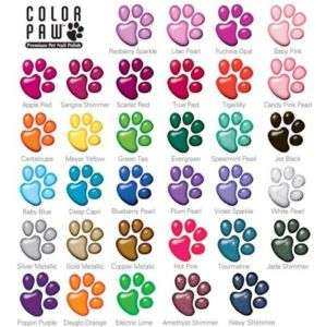 Color Paws Pet Dog Nail Polish Poodle Yorkie Shih tzu