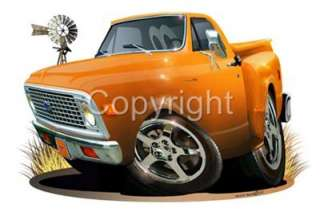 1972 Chevy C 10 Stepside Pickup Truck T SHIRT #6772 c10