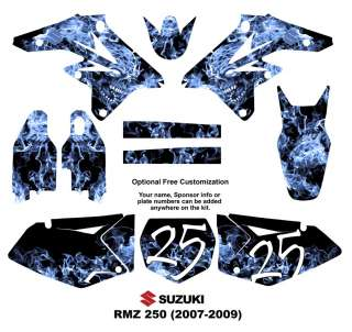SUZUKI RM Z250 MX Bike Graphics Decal Kit Zombie 9500N