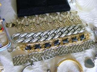 Huge 200 pc Vintage Costume Estate Jewelry Rings ERs Brooch Bracelet