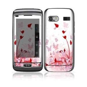 LG VU Plus Decal Skin Sticker   Pink Butterfly Fantasy