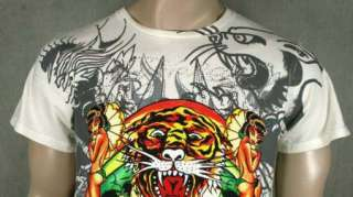 ED Hardy Mens ASIAN TIGER mum Cat T SHIRT NEW
