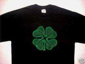 Shamrock 2 Irish Celtic vintage retro black t shirt