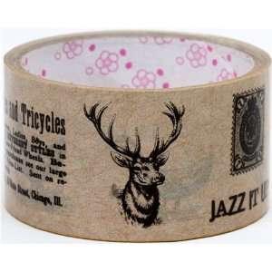 big brown Deco Tape deer stag forest wildlife: Toys & Games