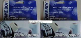 NEW Boxes of Original Nintendo Game Boy Printer Paper