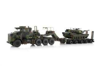 Oshkosh HET M1070 Military Truck & M1 Abrams Tank 1/50
