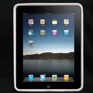 Skin TPU Glove WHITE Solid Soft Cover Case for Apple iPad 3G tablet