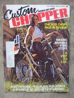 1974 Custom Chopper Magazine Harley Davidson Honda