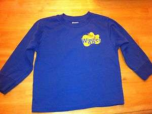 The Wiggles Costume Red, Blue, or Purple Long Sleeve Shirt 3T or 4T