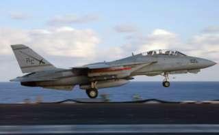 TOP GUN F 14 TOMCAT BUMPER STICKER PIN ANYTIME BABY WOW