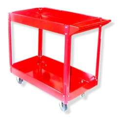 Rolling Red Service Shop Utility Tray Tool Cart Garage Tool Parts New