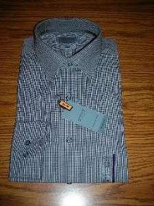 Arrow Slim Fit, W/F, Long Sleeve Black Check Mens Shirt~Dif. Sizes~$