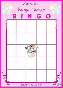 BABY Shower BINGO Game Boy or Girl Balloons & Toys FUN