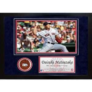Sox Daisuke Matsuzaka Game Used Mini Dirt Collage: Sports & Outdoors