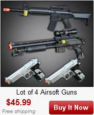 AIRSOFT HAND GUN PISTOL AIR SOFT TOY GUNS LASER w/ BBs