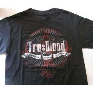 True Blood T Shirt All Flavor 100% Pure No Bite Size Small