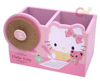 Sanrio Hello Kitty Wooden Pencil Holder / Organizer Box