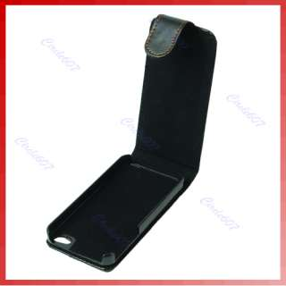 New High Quality Leather Case Pouch For iphone 4G Black