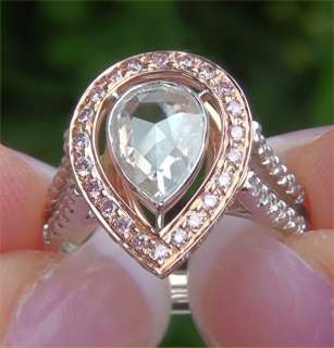 Estate 1.76 ct Natural SI2/G Rose Cut Diamond Engagement Wedding Ring