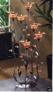 Flower Art deco Modern Abstract sculpture Candle holder