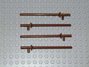 LEGO 4x Lance Minifig Weapon Brown castle knight Pirate