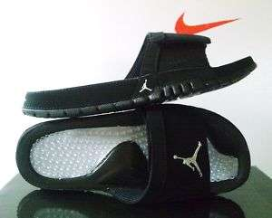 New Nike Jordan Hydro VI Black/Metallic Silver sz 14