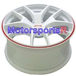 XXR 518 White Red Stripe Rims Wheels 09 10 11 12 Acura TL Tech ZDX MDX