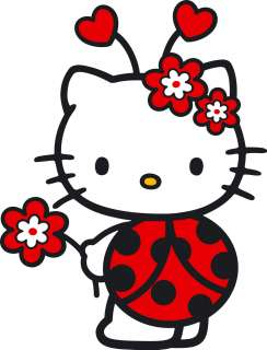 10 LARGE HELLO KITTY LADY BUG WALL STICKER BORDER CHARACTER CUT OUTS