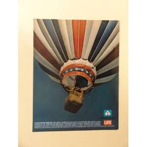 ad (red,white,blue,hot air balloon.) Orinigal Magazine Print Art