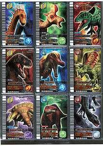 DINOSAUR KING SEGA 5th ed Page of 9 Holographic DINO Cards