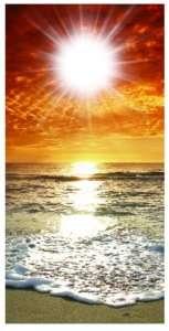 Beach Sunset Cornhole game decal wrap