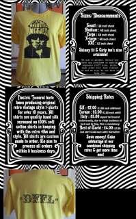 New 2010 ELECTRIC WIZARD t shirt DooM psych NEL dffl